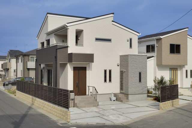 「収納充実・家具の要らない家」モデルハウス 外観