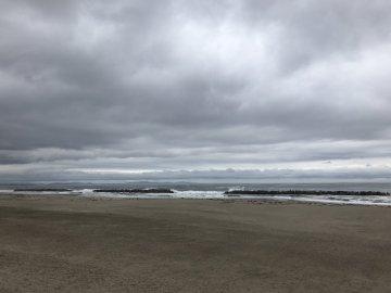 防潮堤より望む太平洋