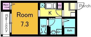 302号室の間取りです