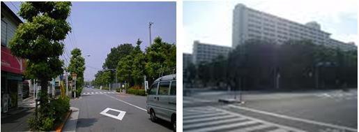 住宅地と高島平団地