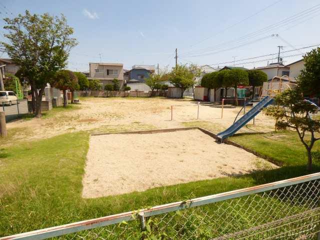 加古川市野口町長砂の新築一戸建て♪東側のお隣は公園♪(1階リビングからの眺望♪)