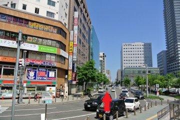 札幌駅北口前道路