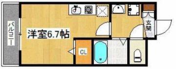 九大 賃貸 新築 カツラギヴィレ A棟 1K