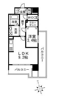 1号室間取り図