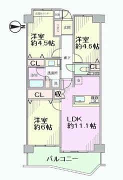グリーンコーポ北戸田 間取図