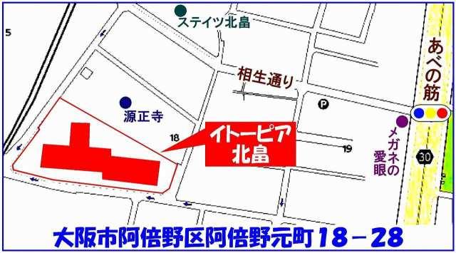 阿倍野区:イトーピア北畠 地図