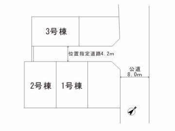 川口市南鳩ヶ谷3 区画図