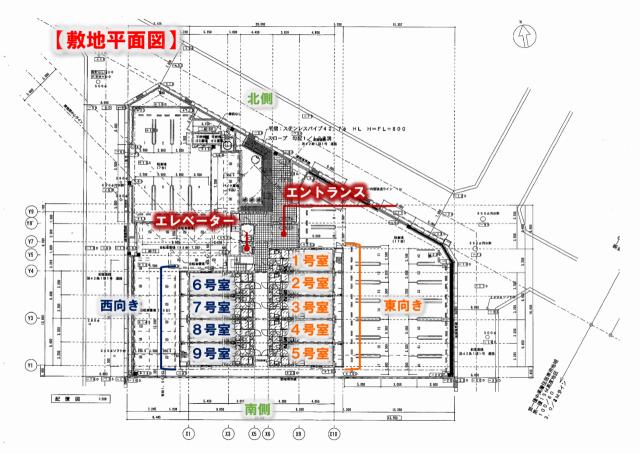 九大 伊都 キャンパス 新築 賃貸 家電付き 仮)コンフォール元浜Ⅱ 敷地 平面図