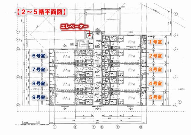 九大 伊都 キャンパス 新築 賃貸 家電付き 仮)コンフォール元浜Ⅱ 2~5階 平面図