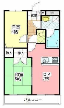 2DKタイプ 和室