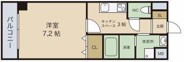エールキューブ 間取 九州大学 伊都キャンパス そば 学生 賃貸