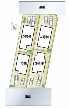 南多聞台 新築戸建 区画図