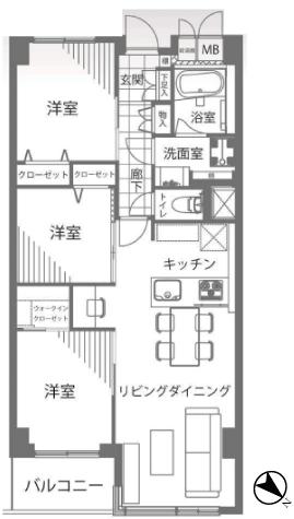 三井音羽ハイツ 新宿区 中古マンション  リノベーション