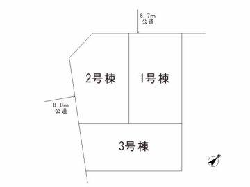 川口市東領家3 区画図