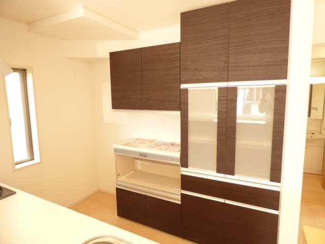 加古川市の新築一戸建て♪キッチンカップボード付き♪(キッチンのご紹介)