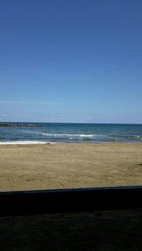 直江津の穏やかな海