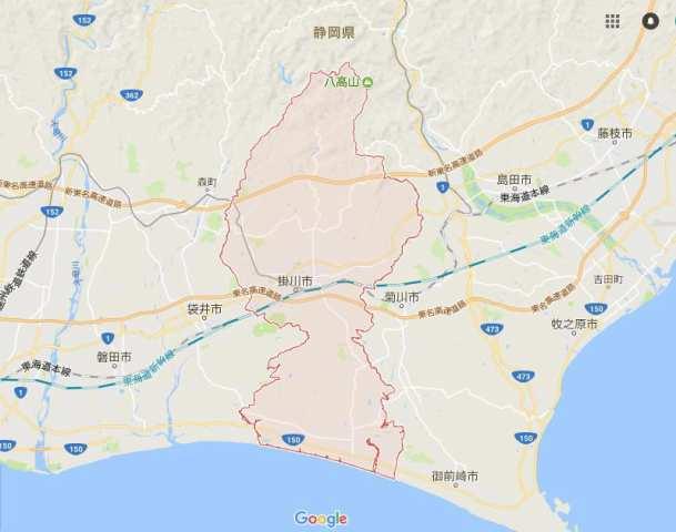掛川市の地図