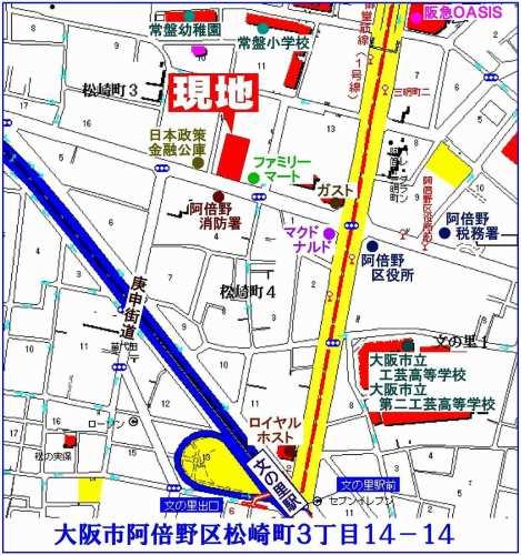 阿倍野区:アーバニスフレア阿倍野松崎町位置図