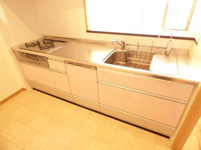 エンブレイス加古川別府・9階角部屋♪キッチン(食洗機新調)のご紹介♪