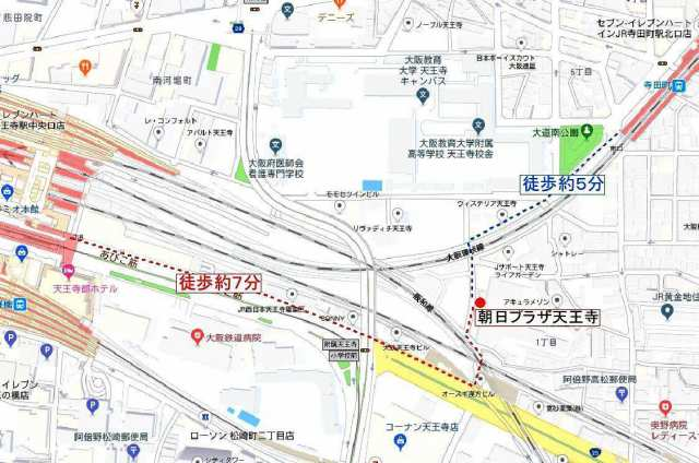 阿倍野区:朝日プラザ天王寺位置図