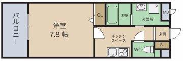パークサイドアコワ 間取 九州大学 伊都 徒歩 賃貸 学生マンション