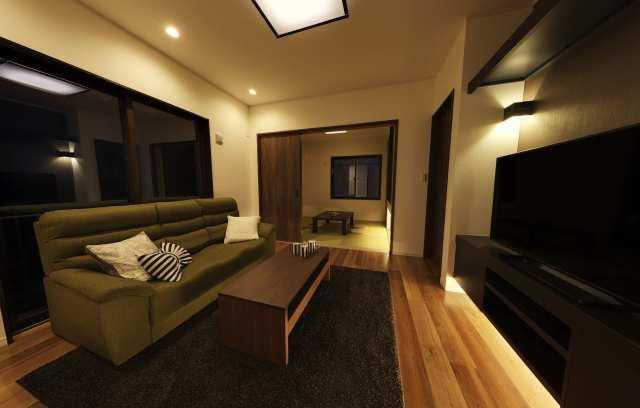 「収納充実・家具の要らない家」