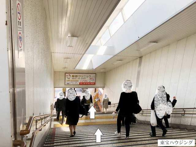 徳庵駅 階段