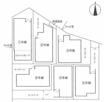 柳崎 区画図