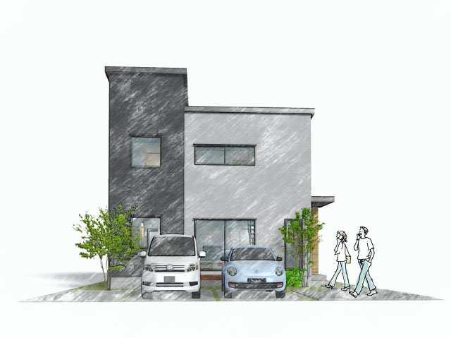 ▼新築参考プラン 建物価格2,550万円、建物面積102.47m<sup>2</sup>