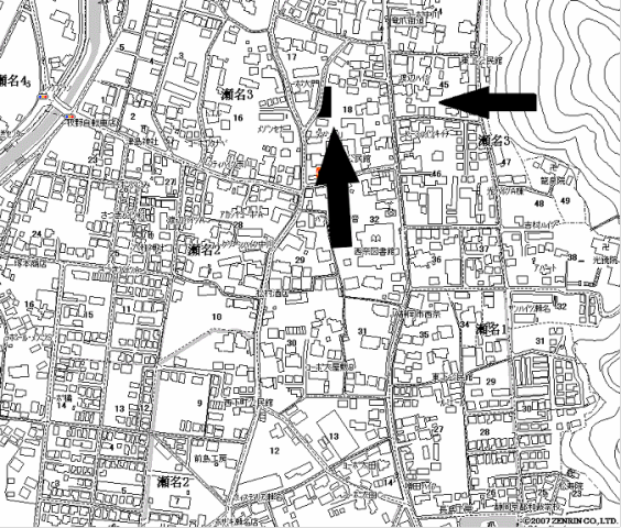 太田瀬名3駐車場 地図
