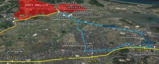 九州大学 伊都キャンパス周辺 食事付き建物 マップ