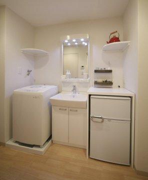 家電と洗面台