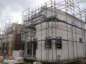 外壁・旭化成建材のパワーボード(厚さ37ミリ):