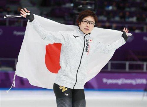 金メダル獲得した小平選手