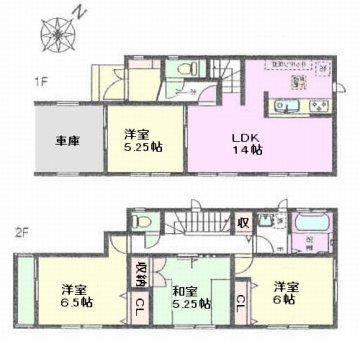 川口市元郷5 新築戸建 D号棟