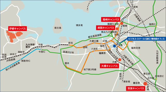 九大 キャンパス マップ