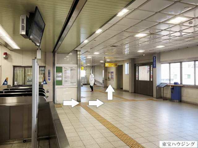 徳庵駅 改札