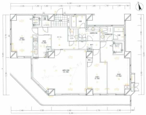 【間取変更点】・間取右下の洋室2つを繋げ1つの和室に ・間取右上の浴槽は取り外しランドリールームに ・間取左上のユーティリティの洗濯機置は取り外し収納スペースに なっております。