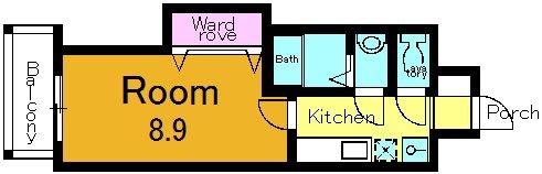 収納の位置は号室よって異なります