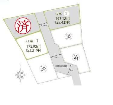 四十瀬 土地 区画図