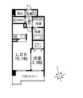 2号室間取り図