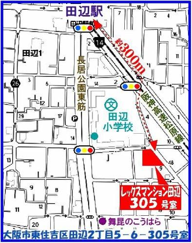 東住吉区:レックスマンション田辺 地図
