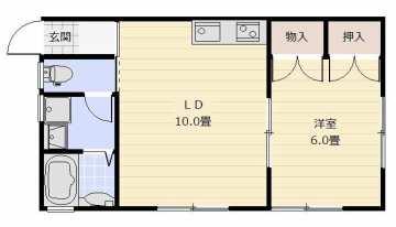 102号室間取り図